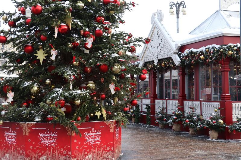 Украшения Москвы на Новогодние праздники