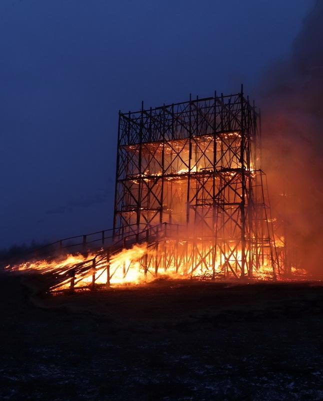 Сожжение арт объекта